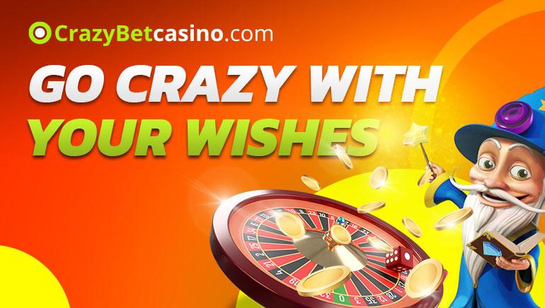 Crazy Bet Casino - TERVITUSBOONUS €300 150% Match Bonus + TASUTA SPINNIDE 20 Free Slots Bonus