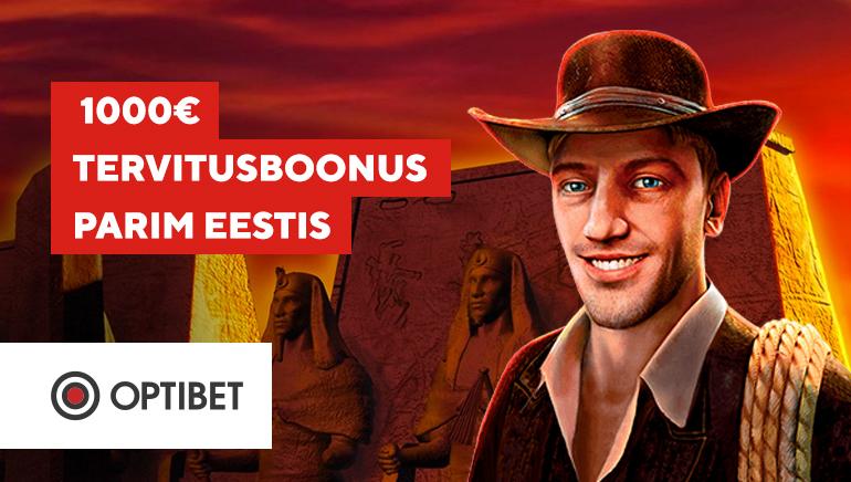 Saa 1000-eurose tervitusboonusega Optibeti kasiinos edumaa